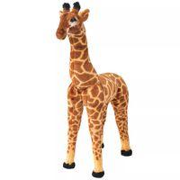 vidaXL Stojeća igračka plišana žirafa smeđa i žuta XXL