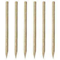 vidaXL Stupovi za ogradu 6 kom drveni 170 cm