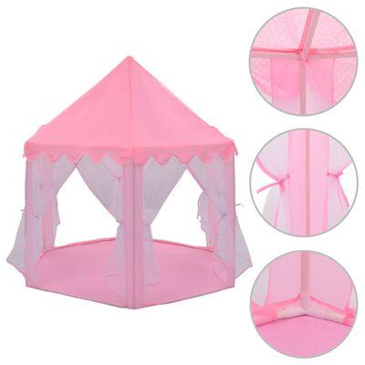vidaXL Princezin šator za igru ružičasti