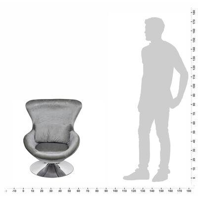 vidaXL Fotelja egg dizajn srebrna boja