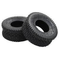vidaXL 4-dijelni set guma za kolica i zračnica 15 x 6.00-6 4PR gumeni
