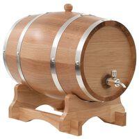 vidaXL Bačva za vino sa slavinom od masivne hrastovine 12 l
