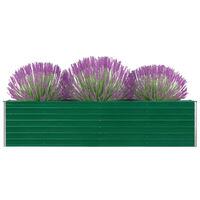 vidaXL Povišena vrtna gredica 320 x 40 x 77 cm pocinčani čelik zelena