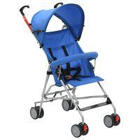 vidaXL Sklopiva dječja kolica plava čelična