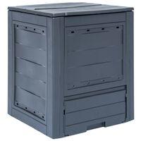 vidaXL Vrtni komposter sivi 60 x 60 x 73 cm 260 L
