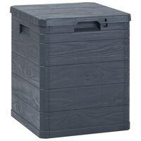 vidaXL Vrtna kutija za pohranu 90 L antracit