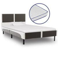 vidaXL Krevet od umjetne kože s memorijskim madracem 90 x 200 cm