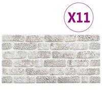 vidaXL 3D zidni paneli s uzorkom svjetlosivih cigli 11 kom EPS
