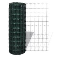 vidaXL Euro ograda čelična 25 x 1,5 m zelena