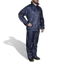 Kišno muško odijelo s kapuljačom, Veličina XL, Plavo