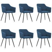 vidaXL Blagovaonske stolice od tkanine 6 kom plave