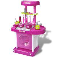 Dječja Igračka Kuhinja sa Svjetlosnim i Zvučnim Efektima Ružičasta