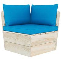 vidaXL Vrtna kutna sofa od paleta s jastucima impregnirana smrekovina