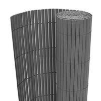 vidaXL Dvostrana vrtna ograda PVC 150 x 500 cm siva