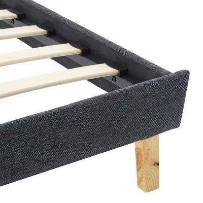 vidaXL Okvir za krevet od tkanine tamnosivi 90 x 200 cm