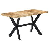 vidaXL Blagovaonski stol od masivnog grubog drva manga 140x70x75 cm