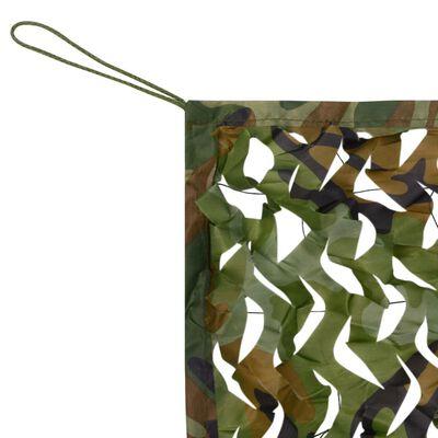 vidaXL Kamuflažna mreža s torbom za pohranu 1,5x3m