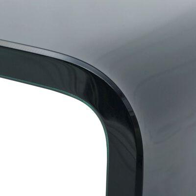 vidaXL Stalak za TV /Monitor Prozirno Staklo Crni 110x30x13 cm