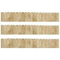 vidaXL Rolane ograde 3 kom 120 cm od impregnirane borovine
