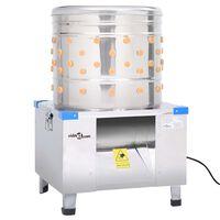 vidaXL Stroj za čerupanje pilića nehrđajući čelik sa 123 prsta 1500 W
