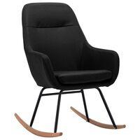 vidaXL Stolica za ljuljanje od tkanine crna