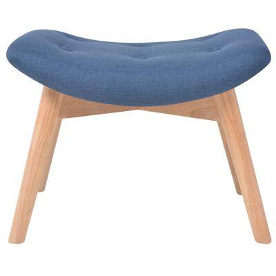 vidaXL Fotelja s osloncem za noge od tkanine plava