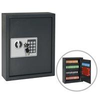 vidaXL Sef za ključeve tamnosivi 30 x 10 x 36,5 cm