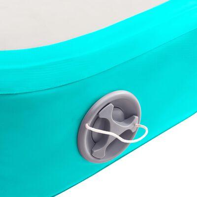 vidaXL Strunjača na napuhavanje s crpkom 600 x 100 x 20 cm PVC zelena