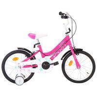 vidaXL Dječji bicikl 16 inča crno-ružičasti