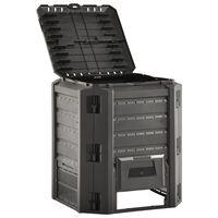 vidaXL Vrtni komposter crni 380 L