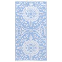 vidaXL Vanjski tepih svjetloplavi 80 x 150 cm PP