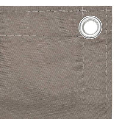 vidaXL Balkonski zastor smeđe-sivi 75 x 300 cm od tkanine Oxford