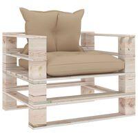vidaXL Vrtna sofa od paleta od borovine s bež jastucima