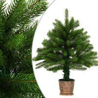 vidaXL Umjetno božićno drvce s realističnim iglicama 65 cm zeleno
