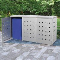 vidaXL Spremište za tri kante za smeće 240 L od nehrđajućeg čelika
