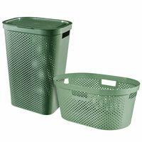 Curver 2-dijelni set košara za rublje Infinity 40 L + 60 L zeleni