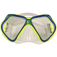 Ronilačka maska za odrasle fluorescento žuta/kobaltno plava Waimea