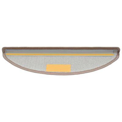 vidaXL Otirači za stepenice 15 kom svijetlosmeđi 65 x 24 x 4 cm