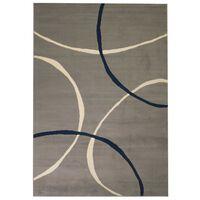 vidaXL Moderni tepih s uzorkom krugova 120 x 170 cm sivi