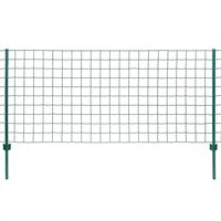 vidaXL Euro ograda 20 x 1 m čelična zelena
