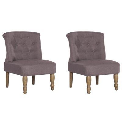 vidaXL Francuske stolice od tkanine 2 kom bež