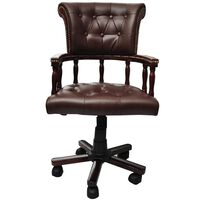 vidaXL Okretna uredska stolica smeđa