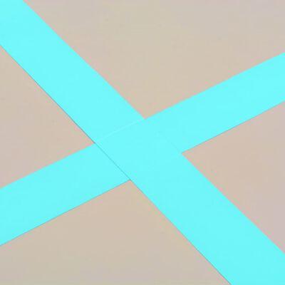 vidaXL Strunjača na napuhavanje s crpkom 700 x 100 x 10 cm PVC zelena