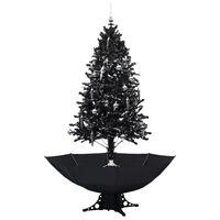 vidaXL Božićno drvce koje sniježi sa stalkom crno 190 cm PVC