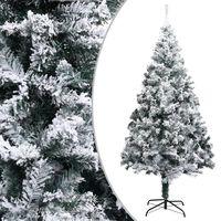 vidaXL Umjetno božićno drvce sa snijegom zeleno 210 cm PVC