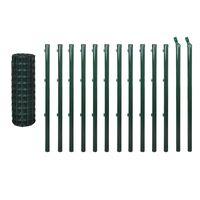 vidaXL Euro ograda 25 x 1,5 m čelična zelena