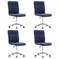 vidaXL Blagovaonske stolice od tkanine 4 kom plave