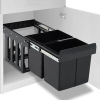 vidaXL Kanta za otpatke na izvlačenje za kuhinjski ormarić 36 L