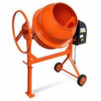 Čelična mješalica za beton,140 L 650 W, narančasta