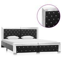 vidaXL Okvir za krevet od umjetne kože crni 160 x 200 cm